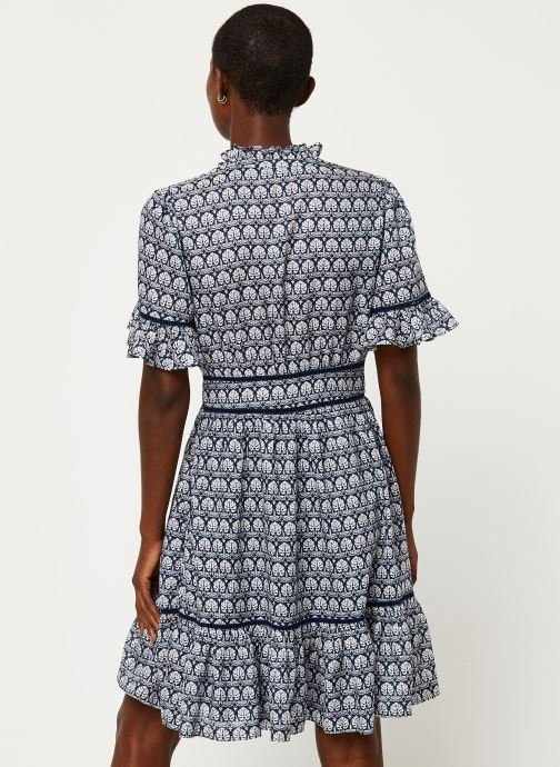 Kleding Scotch & Soda Printed dress with ladder lace Blauw model
