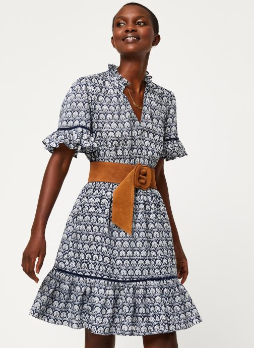 Kleding Scotch & Soda Printed dress with ladder lace Blauw detail