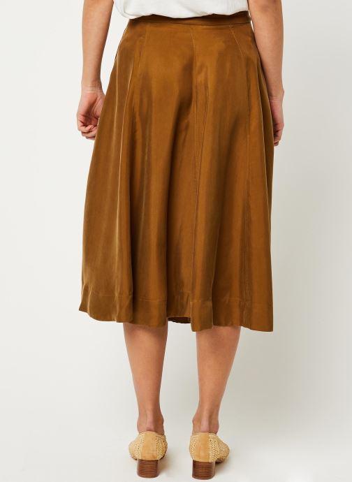 Vêtements Scotch & Soda Midi length skirt in cupro quality Marron vue portées chaussures