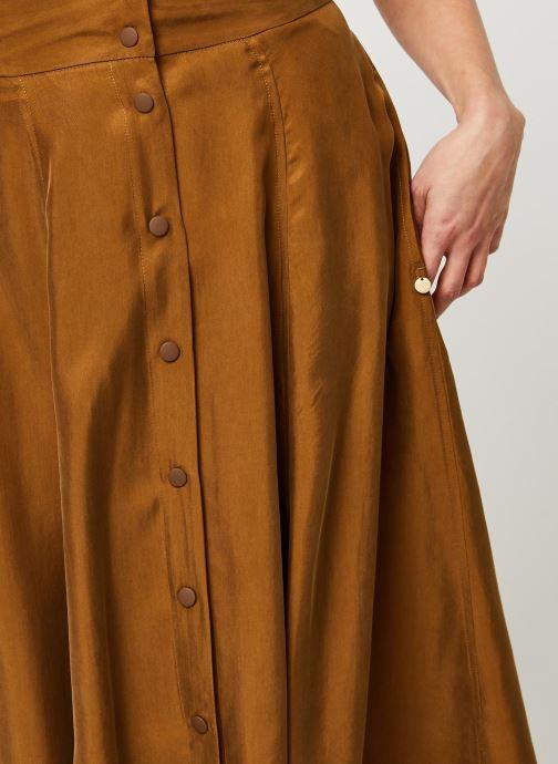 Vêtements Scotch & Soda Midi length skirt in cupro quality Marron vue face