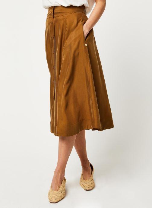 Vêtements Scotch & Soda Midi length skirt in cupro quality Marron vue détail/paire