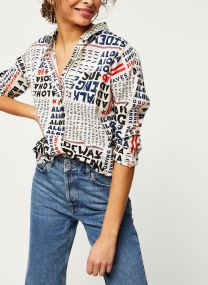Oversized boxy fit cotton viscose shirt in various