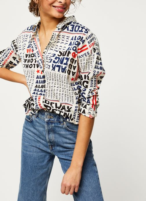 Vêtements Scotch & Soda Oversized boxy fit cotton viscose shirt in various prints Noir vue détail/paire