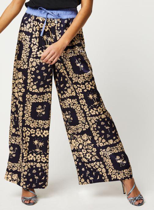 Pantalon - Wide leg pants with contrast waistband