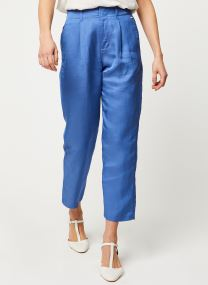 Tailored pants in viscose-linen quality