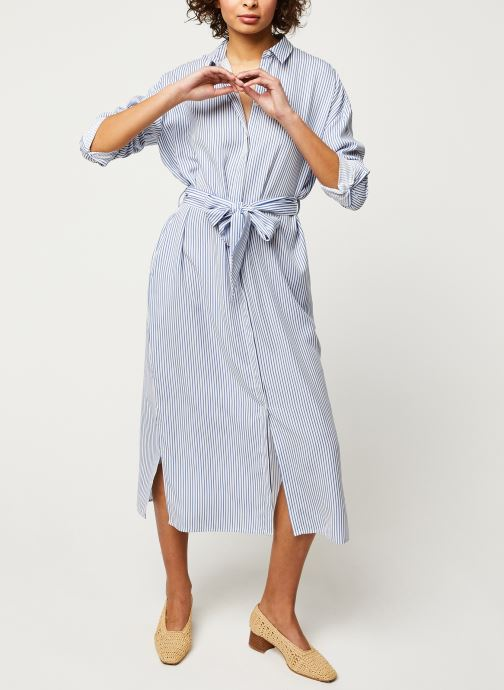 Vêtements Scotch & Soda Striped shirt dress with belt in lyocell quality Bleu vue bas / vue portée sac