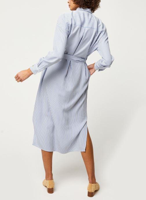 Vêtements Scotch & Soda Striped shirt dress with belt in lyocell quality Bleu vue portées chaussures