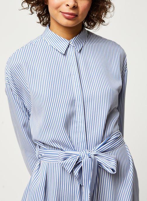 Vêtements Scotch & Soda Striped shirt dress with belt in lyocell quality Bleu vue face