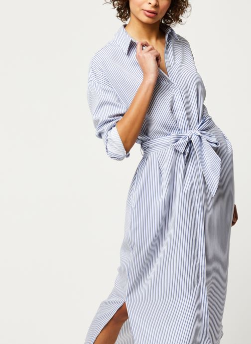 Striped shirt dress with belt in lyocell quality