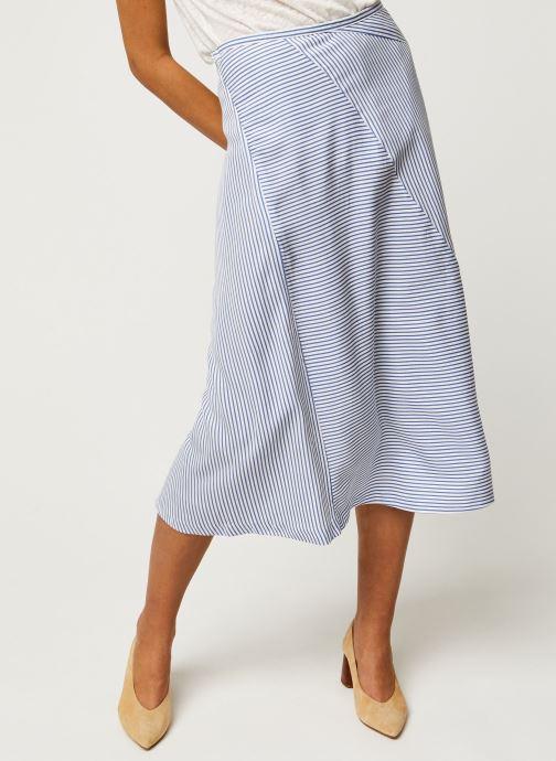 Midi length skirt in bias cut