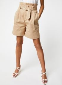 Paperbag shorts in peached cotton twill quality