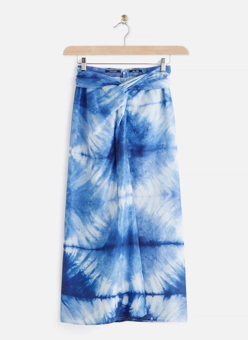 Knotted skirt in tie dye fabric