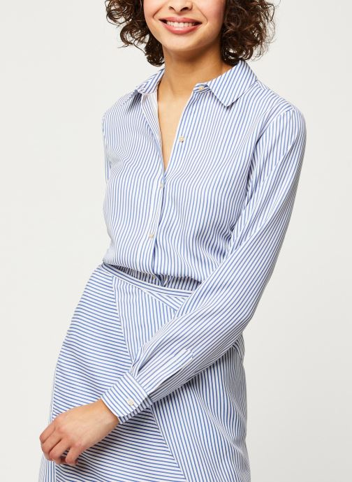 Striped oversized shirt in lyocell quality