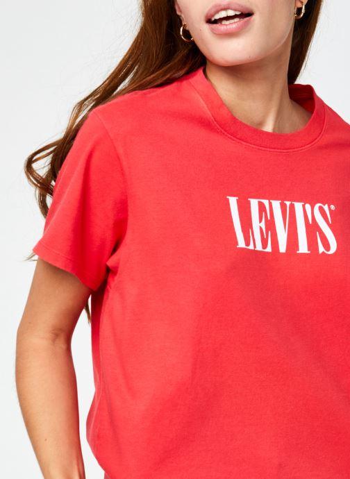 Kleding Levi's Graphic Varsity Tee Rood voorkant