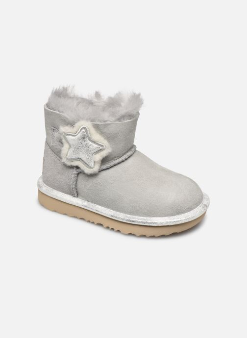 Bottines et boots UGG T MINI BAILEY BUTTON II Gris vue détail/paire