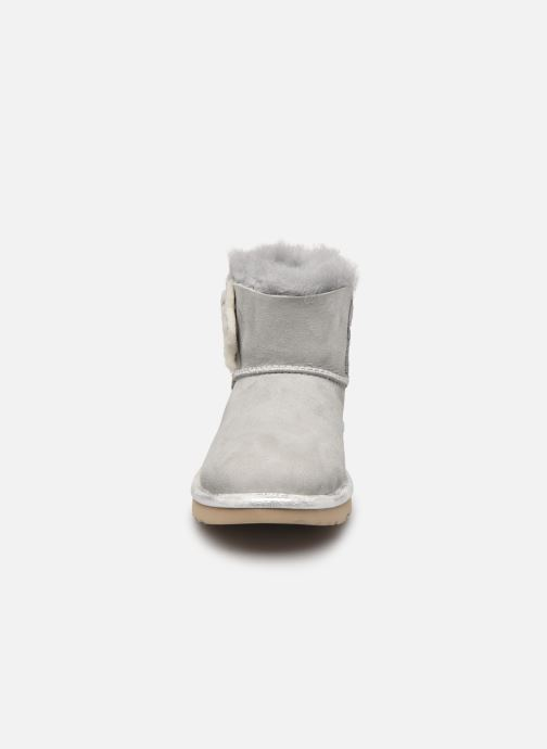 Stiefeletten & Boots UGG K MINI BAILEY BUTTON II blau schuhe getragen