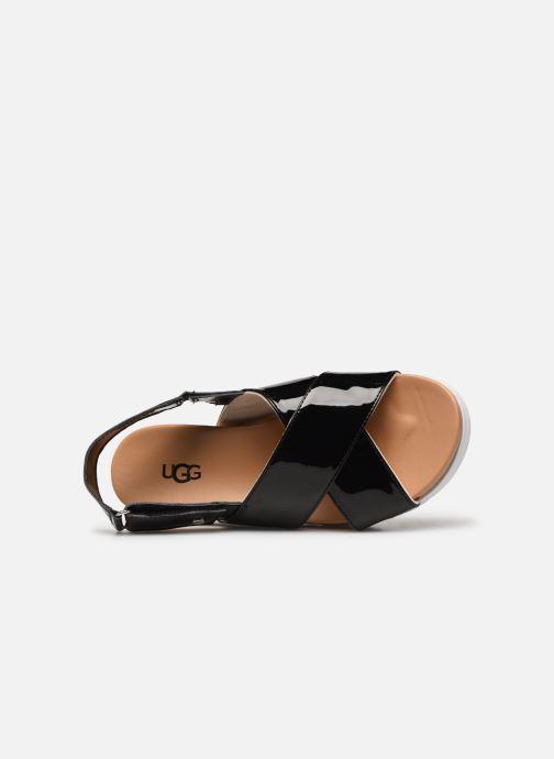 Sandalen UGG K KLARA schwarz ansicht von links