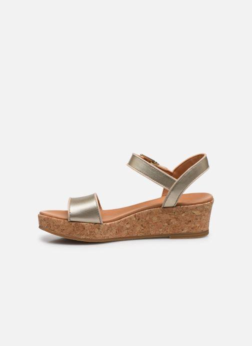 Sandalen UGG K-MILLEY gold/bronze ansicht von vorne