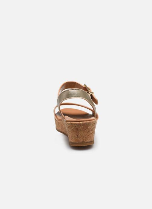 Sandalen UGG K-MILLEY gold/bronze ansicht von rechts