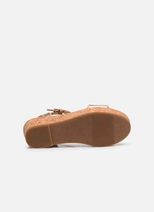 Sandalen UGG K-MILLEY gold/bronze ansicht von oben