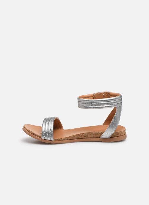 Sandali e scarpe aperte UGG K ETHENA Argento immagine frontale