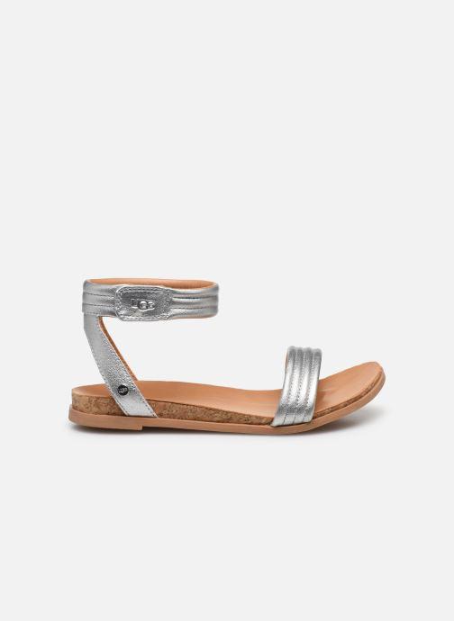 Sandalen UGG K ETHENA silber ansicht von hinten
