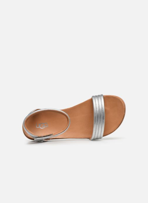 Sandalen UGG K ETHENA silber ansicht von links