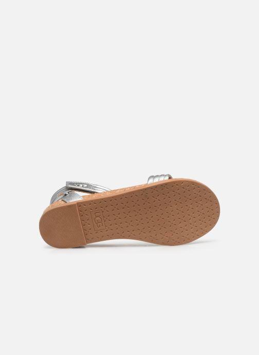 Sandalen UGG K ETHENA silber ansicht von oben