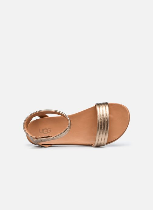 Sandali e scarpe aperte UGG K ETHENA Argento immagine sinistra