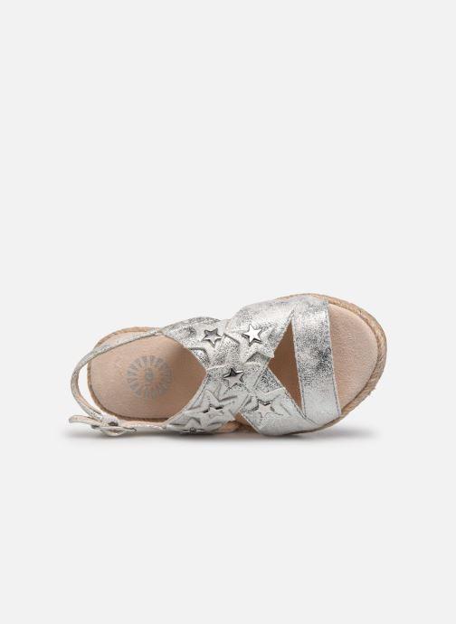 Sandali e scarpe aperte UGG T ALLAIREY STARS Argento immagine sinistra