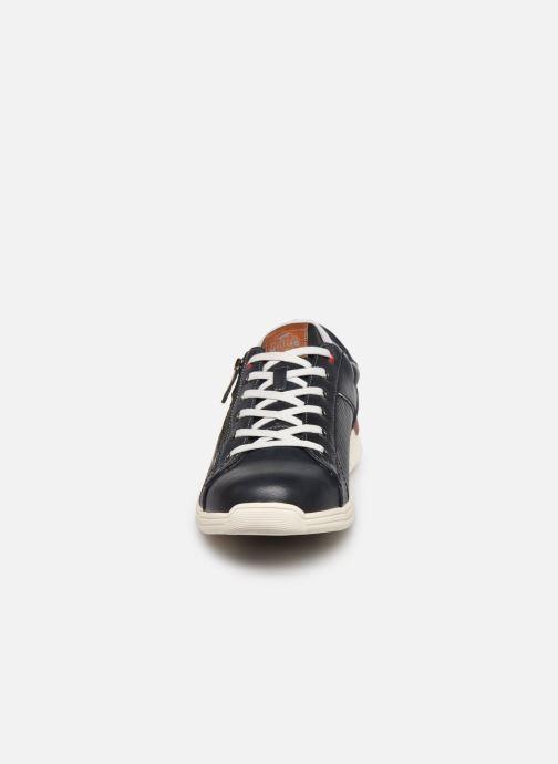 Baskets Mustang shoes Amya Bleu vue portées chaussures