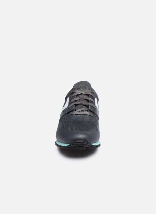 Sneaker BOSS PARKOUR RUNN grau schuhe getragen
