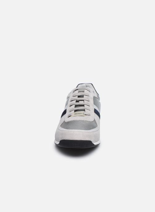Sneaker BOSS GLAZE LOWP grau schuhe getragen