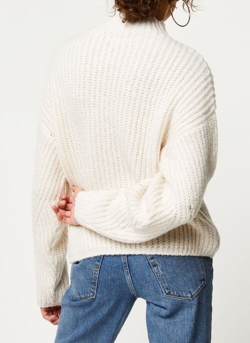 Vêtements Noisy May Nmcristin Knit Blanc vue portées chaussures