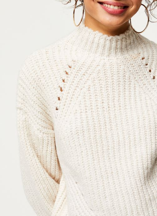 Vêtements Noisy May Nmcristin Knit Blanc vue face