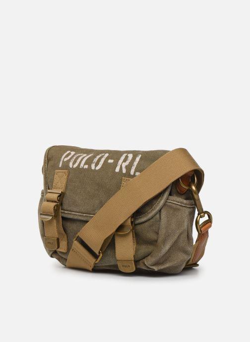 Bolsos de mano Polo Ralph Lauren MINI MESSENGER Verde vista del modelo
