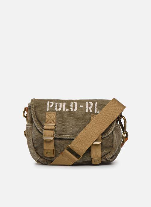 Bolsos de mano Polo Ralph Lauren MINI MESSENGER Verde vista de detalle / par