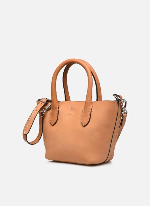 Handtaschen Polo Ralph Lauren BELLPORT MINI OPEN TOTE braun schuhe getragen