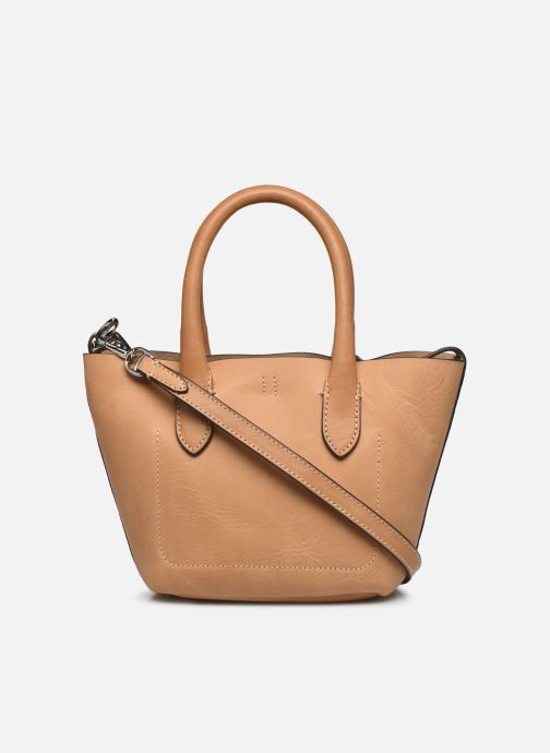 Handtaschen Polo Ralph Lauren BELLPORT MINI OPEN TOTE braun ansicht von vorne