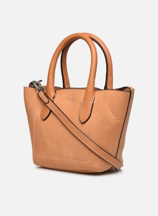 Handtaschen Polo Ralph Lauren BELLPORT MINI OPEN TOTE braun ansicht von rechts