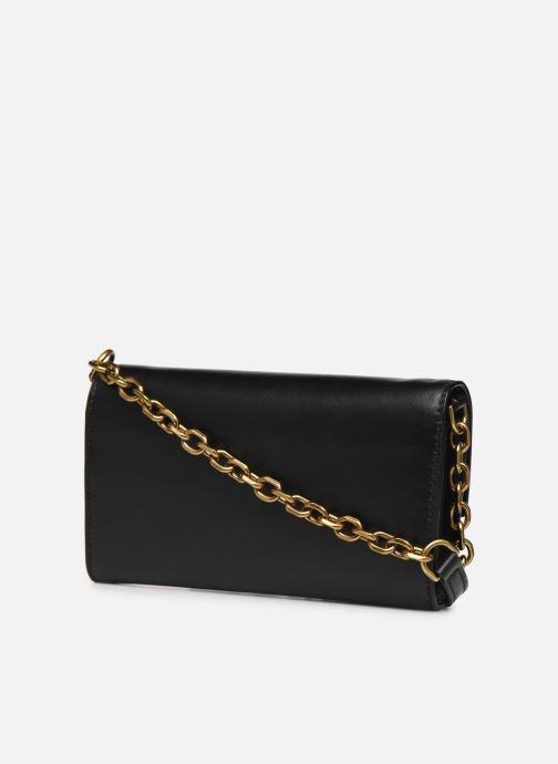 Handtassen Polo Ralph Lauren CHAIN WALLET SMALL Zwart rechts