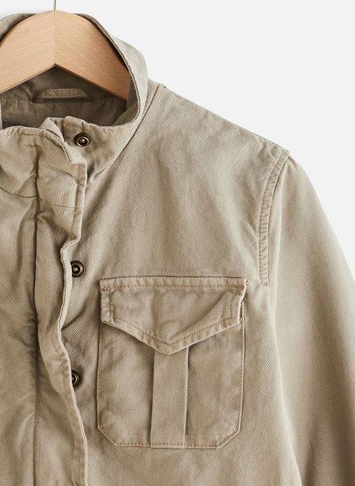 Schott Veste Parka - Veste De Combat Courte JKTOFFICERWX (Vert) - Vêtements chez Sarenza (436864)