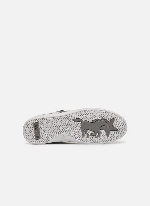Baskets Mustang shoes Glyfada Blanc vue haut