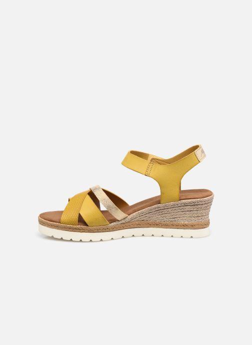 Sandalen Mustang shoes Mhadi gelb ansicht von vorne