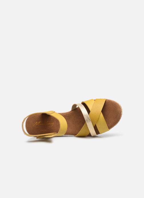 Sandalen Mustang shoes Mhadi gelb ansicht von links