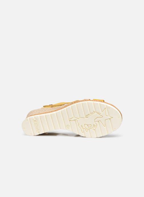Sandalen Mustang shoes Mhadi gelb ansicht von oben