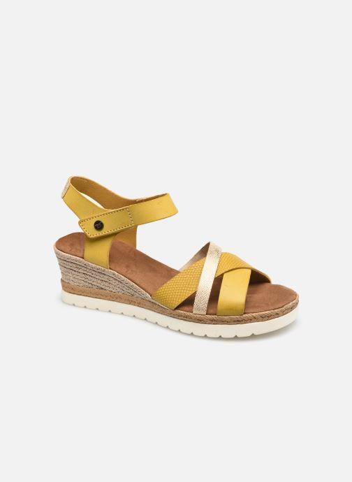 Sandales et nu-pieds Mustang shoes Mhadi Jaune vue détail/paire