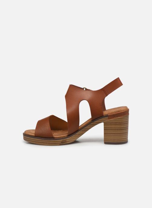 Sandales et nu-pieds Mustang shoes Marcia Marron vue face