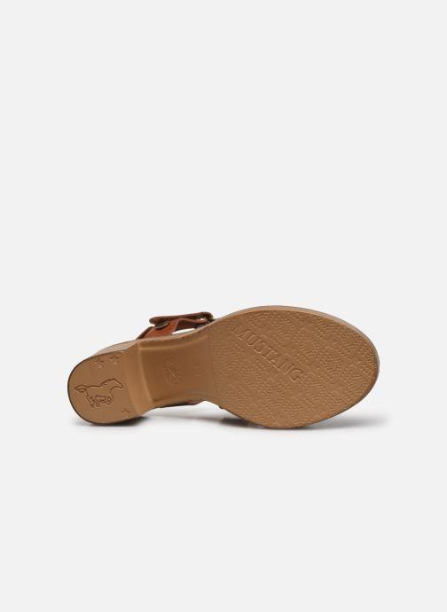 Sandales et nu-pieds Mustang shoes Marcia Marron vue haut