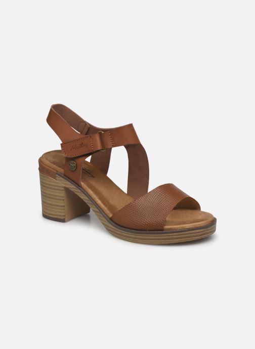 Sandales et nu-pieds Mustang shoes Marcia Marron vue détail/paire